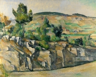 Hillside in Provence painting reproduction, Paul C�zanne