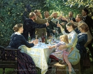 Hip, Hip, Hurra! painting reproduction, Peder Severin Kroyer