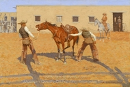 His First Lesson painting reproduction, Frederic Remington
