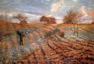 Hoar Frost painting reproduction, Camille Pissarro