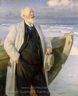 Holger Drachmann painting reproduction, Peder Severin Kroyer