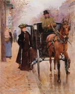 Home, Driver ! painting reproduction, Jean Beraud