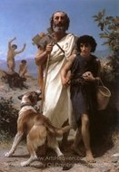 Homer and His Guide painting reproduction, William A. Bouguereau