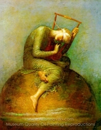 Hope painting reproduction, George Frederic Watts