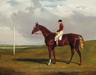 Hornsea, Winner of the 1836 Goodwood Cup, with Bill Scott Up painting reproduction, John Frederick Herring Sr.