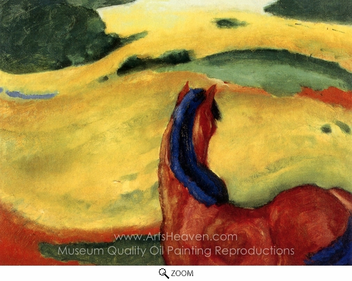 Franz Marc, Horse in a Landscape oil painting reproduction