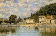 Horses being Watered at Marly-le-Roi painting reproduction, Alfred Sisley