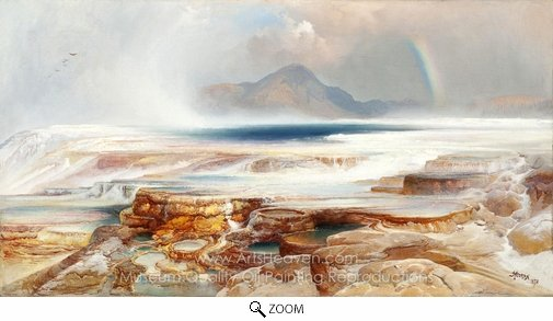 Thomas Moran, Hot Springs of the Yellowstone oil painting reproduction
