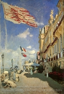 Hotel des Roches Noires, Trouville painting reproduction, Claude Monet