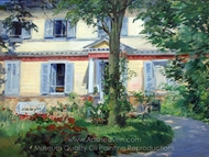 House in Rueil painting reproduction, Édouard Manet