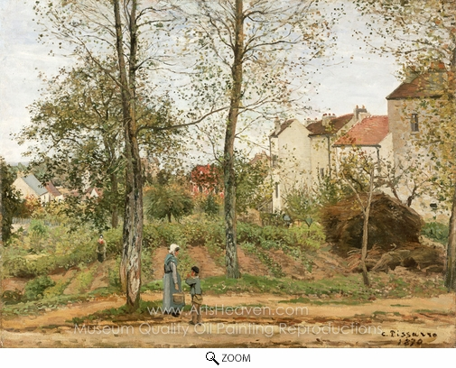 Camille Pissarro, Houses at Bougival (Autumn) oil painting reproduction