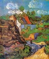Houses in Auvers painting reproduction, Vincent Van Gogh