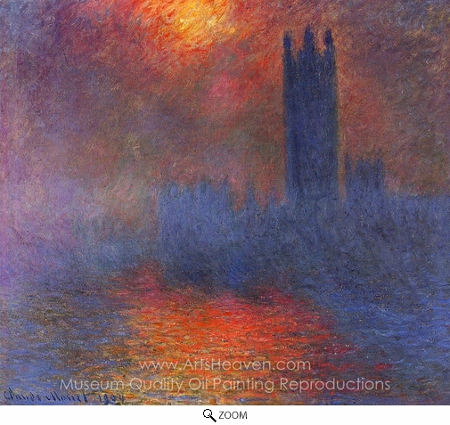 Claude Monet, Houses of Parliament, London oil painting reproduction