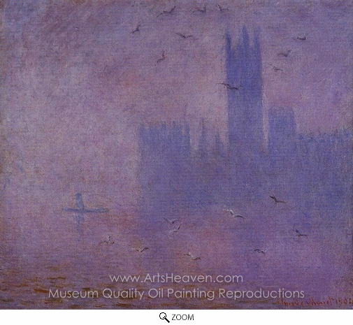 Claude Monet, Houses of Parliament, Seagulls oil painting reproduction