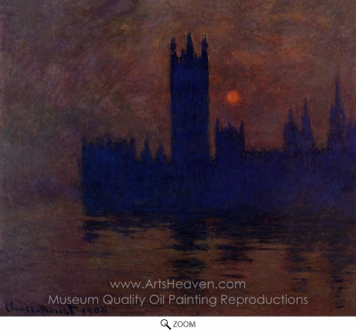 Claude Monet, Houses of Parliament, Sunset oil painting reproduction