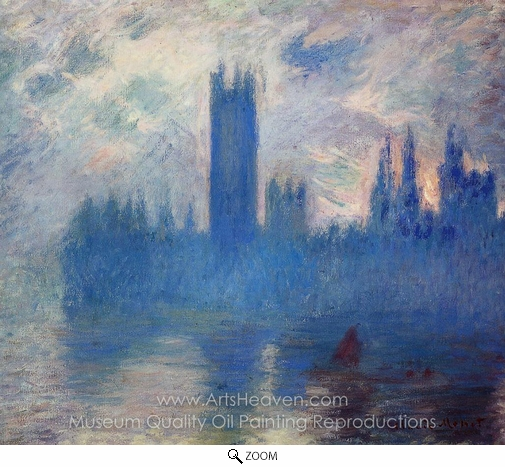 Claude Monet, Houses of Parliament, Westminster oil painting reproduction