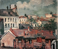 Houses (Roofs) painting reproduction, Paul C�zanne