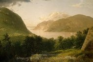 Hudson River Scene painting reproduction, John Frederick Kensett