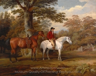 Hunter and Huntsman painting reproduction, George Garrard