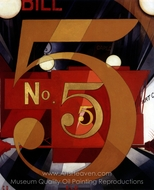 I Saw the Figure 5 in Gold painting reproduction, Charles Demuth