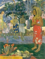 Ia Orana Maria (Hail Mary) painting reproduction, Paul Gauguin