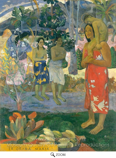 Paul Gauguin, Ia Orana Maria (Hail Mary) oil painting reproduction
