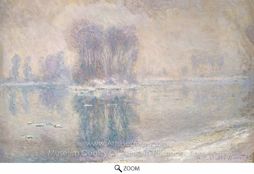 Claude Monet, Ice Floes oil painting reproduction