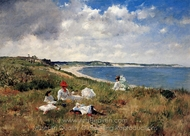 Idle Hours painting reproduction, William Merritt Chase