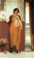 Idle Thoughts painting reproduction, John William Godward