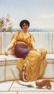 Idleness painting reproduction, John William Godward