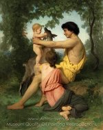 Idyll, Ancient Family painting reproduction, William A. Bouguereau