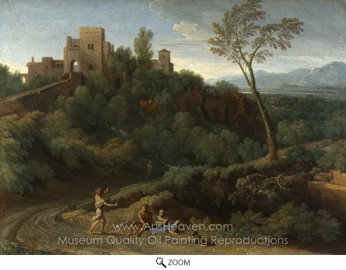 Gaspard Dughet, Imaginary Landscape with Buildings in Tivoli oil painting reproduction