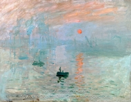 Impression Sunrise painting reproduction, Claude Monet