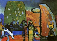 Improvisation 2 (Funeral March) painting reproduction, Wassily Kandinsky