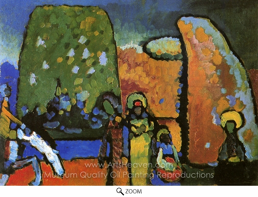 Wassily Kandinsky, Improvisation 2 (Funeral March) oil painting reproduction