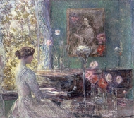 Improvisation painting reproduction, Childe Hassam