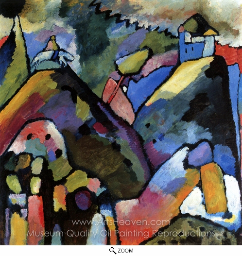 Wassily Kandinsky, Improvisation 9 oil painting reproduction