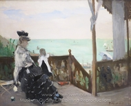 In a Villa at the Seaside painting reproduction, Berthe Morisot