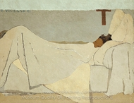 In Bed painting reproduction, Edouard Vuillard