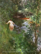 In Gopsmor painting reproduction, Anders Zorn
