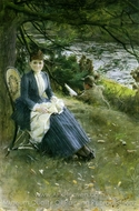 In Scotland (Mrs. Symons) painting reproduction, Anders Zorn
