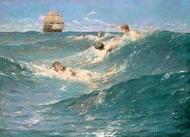 In Strange Seas painting reproduction, George Willoughby Maynard