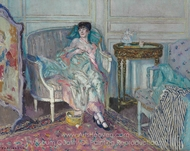 In the Boudoir painting reproduction, Frederick Carl Frieseke