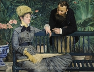 In the Conservatory painting reproduction, Édouard Manet