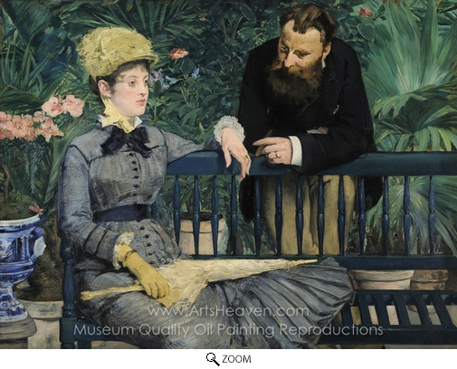 Édouard Manet, In the Conservatory oil painting reproduction