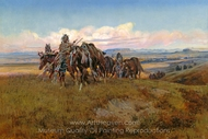 In the Enemy's Country painting reproduction, Charles Marion Russell
