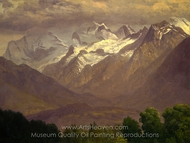 In the High Mountains painting reproduction, Albert Bierstadt
