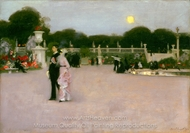 In the Luxembourg Gardens painting reproduction, John Singer Sargent