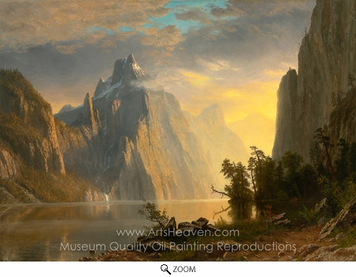 Albert Bierstadt, In the Mountains oil painting reproduction