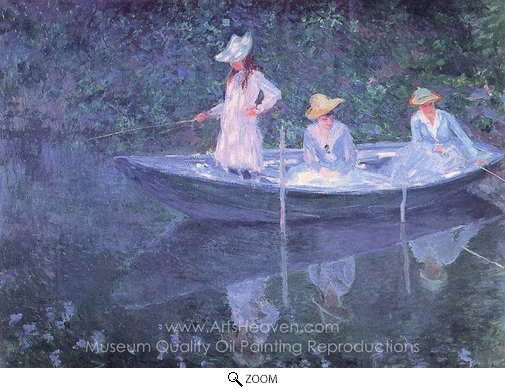 Claude Monet, In the Norvegienne oil painting reproduction